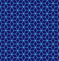 Seamless pattern of the hexagonal neon netting. Luminous particles. Futuristic texture. Geometric, modern, technology vector