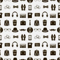 Seamless pattern with hipster accessories various Stock Photos