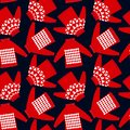Seamless pattern for holiday events as Ugly Christmas Sweater party.