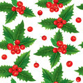 Seamless pattern of holly berries contains transparent objects eps Royalty Free Stock Photography