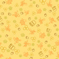 Seamless pattern with honey bees in a honeycomb Royalty Free Stock Photo
