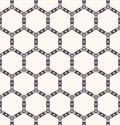 Seamless pattern hand drawn honeycomb trellis background. Geometric monochrome cell allover print. Vector geo swatch