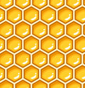 Seamless pattern with honeycombs Stock Photography