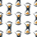 Seamless pattern with hourglasses background for wallpaper design Royalty Free Stock Photos