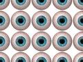Seamless pattern of human eyeballs blue Royalty Free Stock Photos