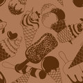 Seamless pattern of ice cream chocolate Royalty Free Stock Image