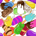 Seamless pattern of ice cream colorful Royalty Free Stock Photography