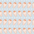 Seamless pattern of ice cream cone background vector illustration Royalty Free Stock Images