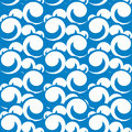 Seamless pattern illustration of sea waves vector Royalty Free Stock Photo