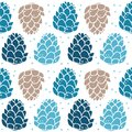 Seamless pattern with the image of fir cones.