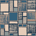 Seamless pattern with the image of the squares and rectangles