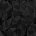 Seamless pattern. Imitation of black crumpled paper composed of triangles and polygons.