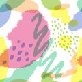 Seamless pattern with imitation watercolor stains