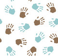 Seamless pattern - imprint hands.Vector Stock Photos