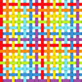 Seamless pattern with intersecting rainbow ribbons Royalty Free Stock Image