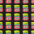 Seamless pattern with jam, marmalade. Vector illustration.