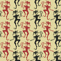 Seamless pattern of jokers funny vintage Royalty Free Stock Photo