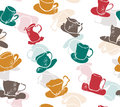 Seamless pattern with kitchen cups Royalty Free Stock Photography