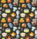 Seamless pattern with kitchen tools and cooking icons eps Stock Images