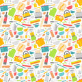 Seamless pattern with kitchen tools vector illustration.