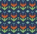 Seamless pattern knit imitation ethnic style Stock Image