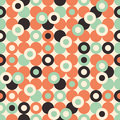 Seamless pattern with large circles. Royalty Free Stock Photo