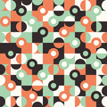 Seamless pattern with large circles and semicircles. Royalty Free Stock Photo