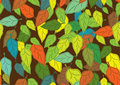 Seamless pattern with leaf Stock Image