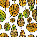 A seamless pattern with leaf,autumn background