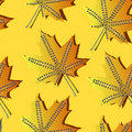 A seamless pattern with leaf,autumn leaf Stock Photos