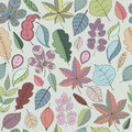 Seamless pattern of leaf. Autumn seamless Royalty Free Stock Photo