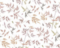 Seamless pattern leaf different branches natural fall red orange