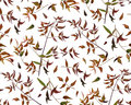 Seamless pattern leaf red orange yellow green color leaves.