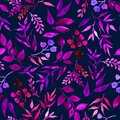 stock image of  Seamless pattern of leaves, herbs, tropical plant.