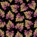 Seamless pattern with leaves and sprigs