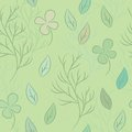 Seamless pattern on leaves theme floral background Stock Image