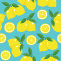 Seamless pattern with lemons. Royalty Free Stock Photo
