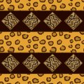 Seamless pattern with leopard skin vector illustration Stock Photos