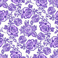 Seamless pattern lilac rose Royalty Free Stock Photo