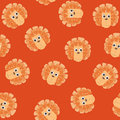 Seamless pattern with lion toys Stock Photography