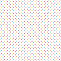Seamless Pattern Little Colorful Dots On White