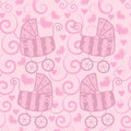 Seamless pattern for little girls Stock Photography