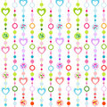 Seamless pattern with little hearts Royalty Free Stock Photography