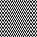 Seamless Pattern Little Pixel Chevron Black And White