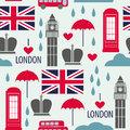 Seamless pattern with london symbols vector illustration Stock Images