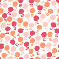 Seamless pattern with lots of flowers for textiles interior design for book design website background Stock Photography