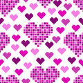 Seamless pattern with lots of pink hearts for textiles interior design for book design website background Stock Images