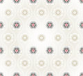 Seamless pattern with lotus flowers background vector Royalty Free Stock Images