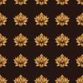 Seamless pattern with lotus flowers. Vector hand drawn illustration.