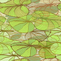 Seamless pattern with lotus leaves elegant floral Stock Photo